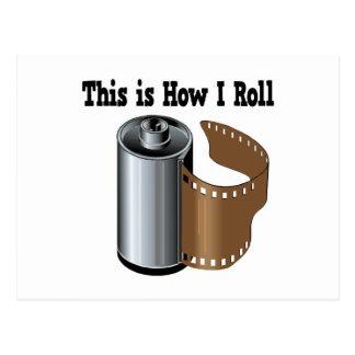 How I Roll Camera Film Postcard