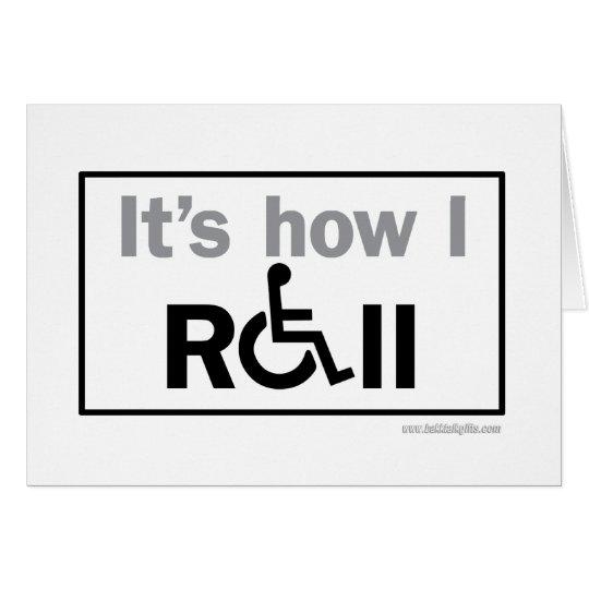 How I Roll... Card