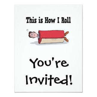 How I Roll Carpet 4.25x5.5 Paper Invitation Card