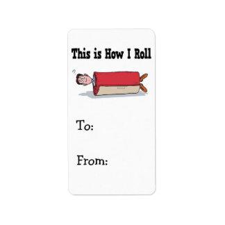 How I Roll Carpet Label