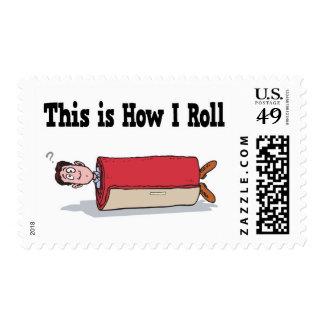 How I Roll Carpet Postage Stamp