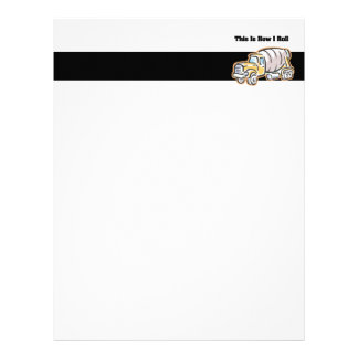 How I Roll (Cement Truck) Letterhead Template