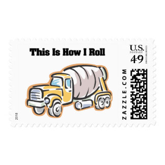 How I Roll (Cement Truck) Postage Stamp