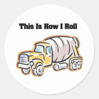 How I Roll (Cement Truck) Sticker