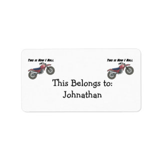 How I Roll (Dirt Bike) Address Label