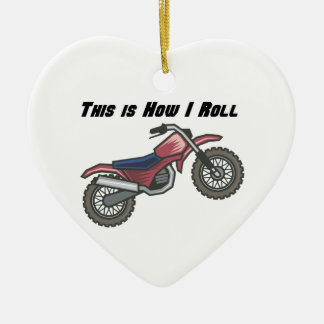 How I Roll (Dirt Bike) Christmas Ornaments