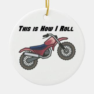 How I Roll (Dirt Bike) Christmas Tree Ornament