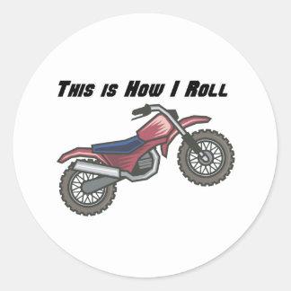 How I Roll (Dirt Bike) Classic Round Sticker