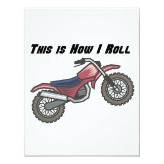 How I Roll (Dirt Bike) 4.25x5.5 Paper Invitation Card