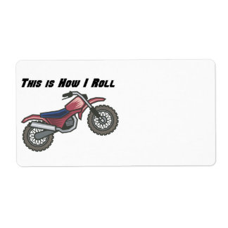 How I Roll (Dirt Bike) Personalized Shipping Labels
