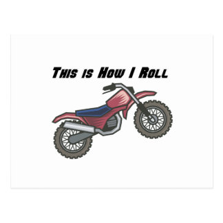 How I Roll (Dirt Bike) Postcard