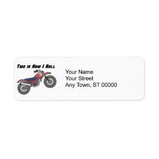 How I Roll (Dirt Bike) Return Address Label