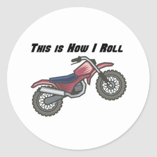 How I Roll (Dirt Bike) Stickers