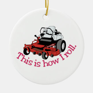 How I Roll Double-Sided Ceramic Round Christmas Ornament