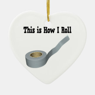 How I Roll Duct Tape Double-Sided Heart Ceramic Christmas Ornament