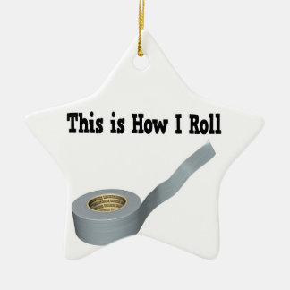 How I Roll Duct Tape Double-Sided Star Ceramic Christmas Ornament