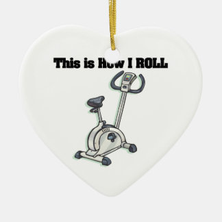 How I Roll (Exercise Bike) Ceramic Ornament