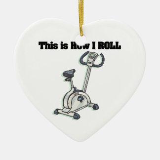 How I Roll (Exercise Bike) Ceramic Ornament