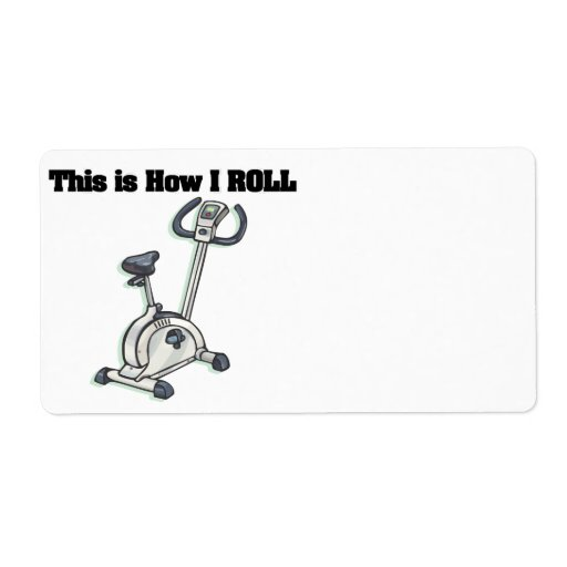 How I Roll (Exercise Bike) Custom Shipping Labels