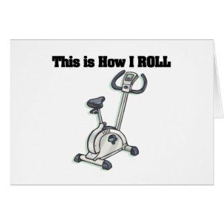 How I Roll (Exercise Bike) Greeting Card