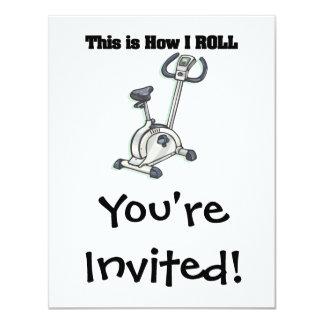 How I Roll (Exercise Bike) 4.25x5.5 Paper Invitation Card
