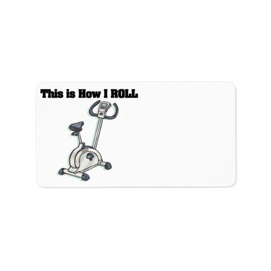 How I Roll (Exercise Bike) Label