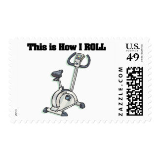 How I Roll (Exercise Bike) Postage Stamp