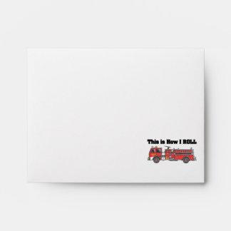How I Roll (Fire Engine/Truck) Envelopes