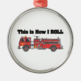 How I Roll (Fire Engine/Truck) Christmas Tree Ornament