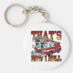 How I Roll Fire Truck Basic Round Button Keychain