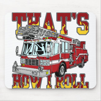 How I Roll Fire Truck Mouse Pad
