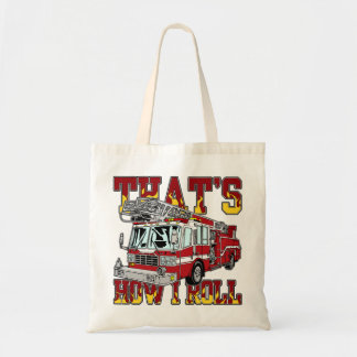 How I Roll Fire Truck Tote Bag