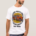 How I Roll Firetruck mens basic t-shirt