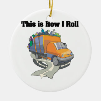 How I Roll (Garbage Truck) Ceramic Ornament