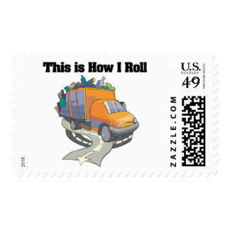 How I Roll (Garbage Truck) Postage Stamp