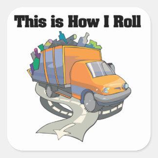How I Roll (Garbage Truck) Round Sticker