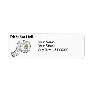 How I Roll Gauze Medical Tape Return Address Labels