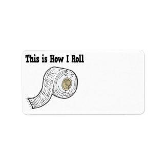 How I Roll Gauze Medical Tape Custom Address Labels