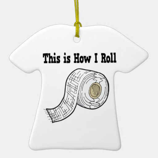 How I Roll Gauze Medical Tape Double-Sided T-Shirt Ceramic Christmas Ornament