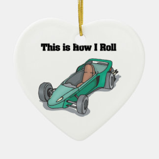 How I Roll (Go Cart) Ceramic Ornament