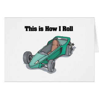 How I Roll (Go Cart) Greeting Card