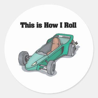 How I Roll (Go Cart) Sticker