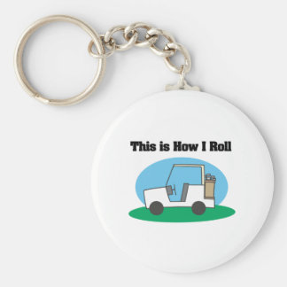 How I Roll (Golf Cart) Keychain