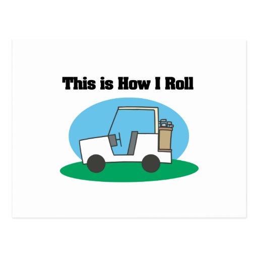 How I Roll (Golf Cart) Postcard