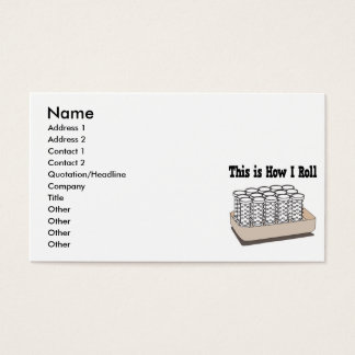 How I Roll Hair Curlers Business Card