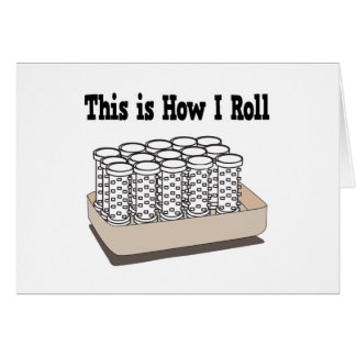 How I Roll Hair Curlers Greeting Card