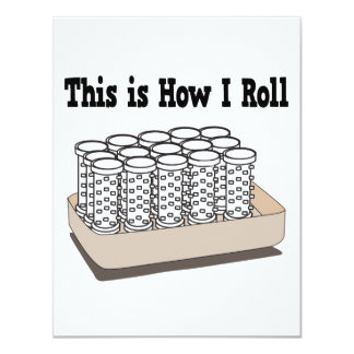 How I Roll Hair Curlers 4.25x5.5 Paper Invitation Card