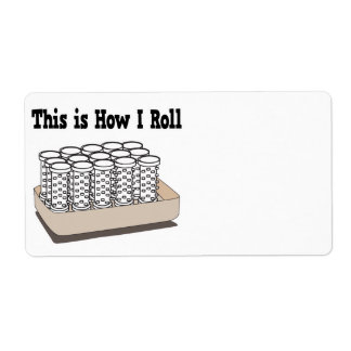 How I Roll Hair Curlers Personalized Shipping Label