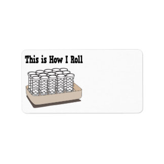 How I Roll Hair Curlers Personalized Address Labels