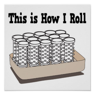 How I Roll Hair Curlers Poster